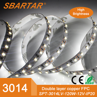 5M 3014 LED Strip Light Non waterproof 120leds/M Cool White Indoor 12V 8mm width