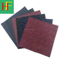 one side tricot velvet one side pu leather bonded fabric new design