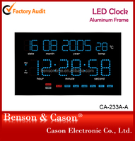 Low price blue digital led wall clock