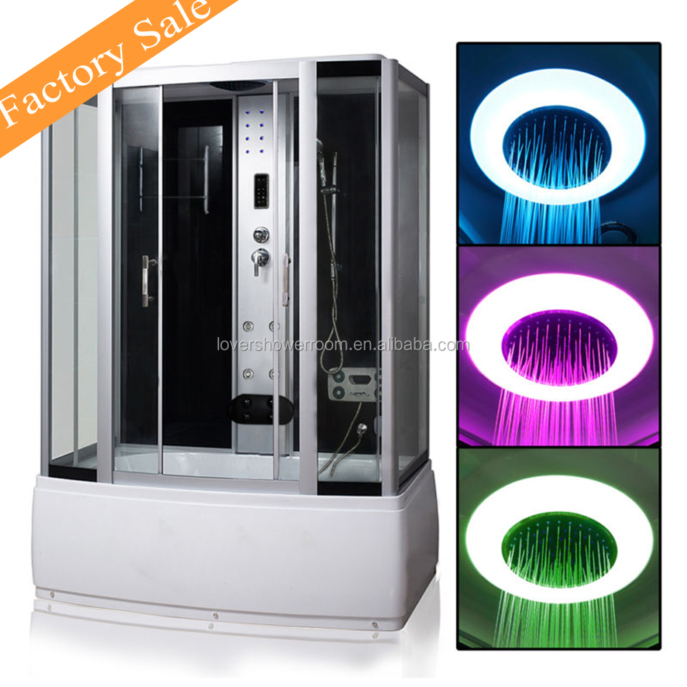 Factory directly sale LED Roof Light steam sex whirlpool shower cabin