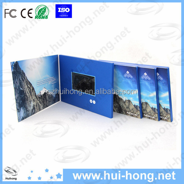 2.4 inch lcd screen digital video card for business