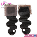 XBL Golden Supplier 4*4 Wholesale Virgin Human Hair Silk Closure