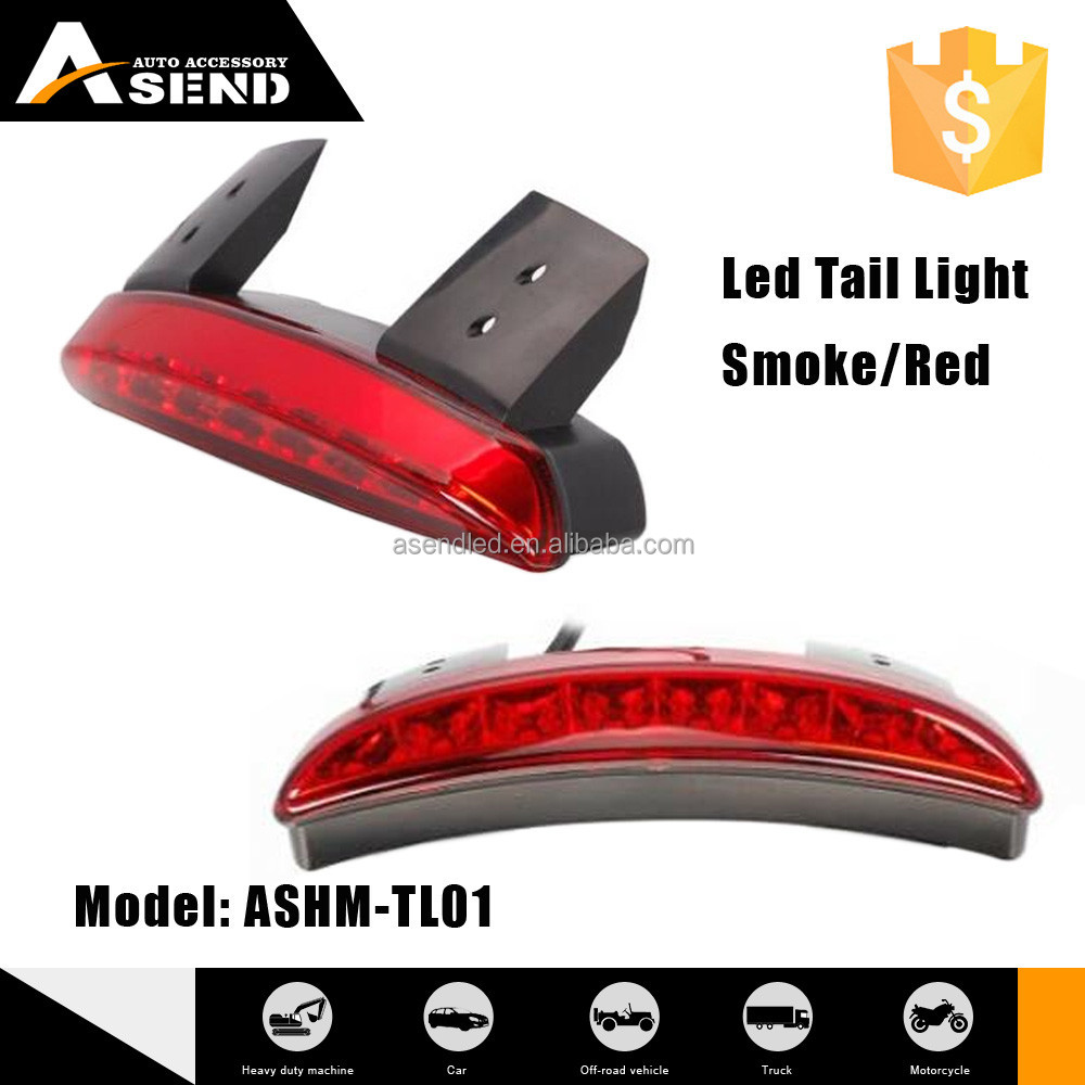 Hot sale 1.44W red smoke hyaline LED tail light 3 covers for motorcycle