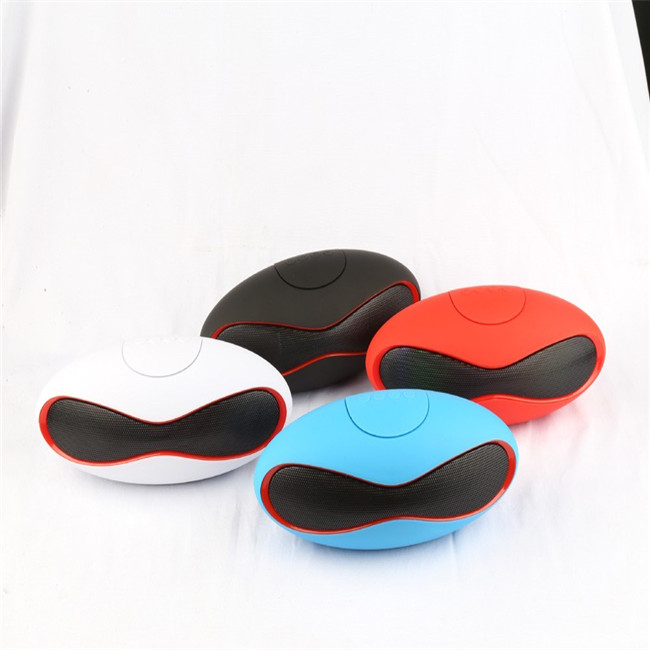 2017 OEM Colorful Oval Shape Rugby Ball Speaker With TF Card Rm Radio