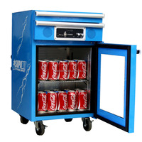 Mechanic Toolbox Mini Bar Fridge with Speaker Hotel mini bar fridge Transparent door fridge