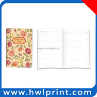 2015 High quality creative design custom flower notebook