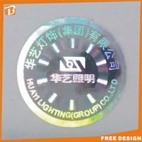 anti counterfeiting hologram double-sided adhesive label for metallic sticker