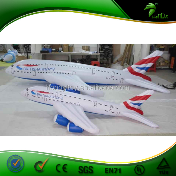 Inflatable Aircraft Replica / White Color Inflatable Helium Airplane Balloon / Custom Size Large Inflatable Airplane