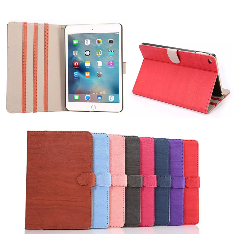 for iPad Mini 4 retro style Folio Leather cover Case with belt clip