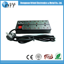 electrical sockets hot sell Dongguan factory cheap double UK type table PDU socket