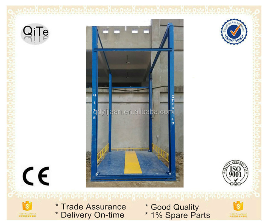 hydraulic one floor cargo lift platform