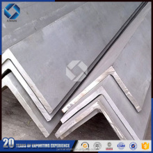 Tangshan factory directly supply steel angle size chart/angle iron/slotted angle iron supplier