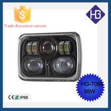 7Inch Square 88W Spot Beam Crees Fog Led Driving Work Light 4WD Offroad HID SUV 4X4