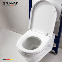 Soft close wall hanging toilet seat rimless wall hung wall toilet C010212W