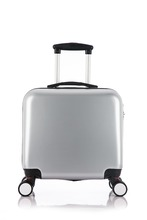 wholesale alibaba boarding eminent trolley luggage PU 16 inch aluminum trolley luggage
