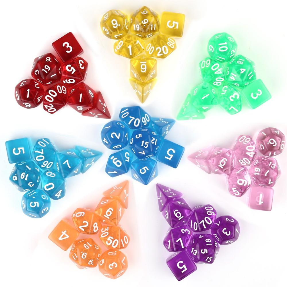 Free Shipping 1 set of 7 sided dice D4 D6 D8 <strong>D10</strong> D12 D20 for dungeons and dragons dice dados rpg