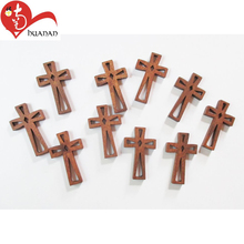 Decoration customized wholesale wooden crafts religious olive wood small cross