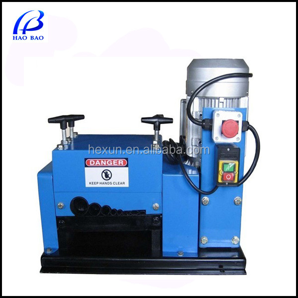 HW-009 Popular Design 1.5Kw/2HP Power Cable Wire Stripping Machine cable making equipment with CE 1-42mm