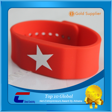 Clear silicone bracelets kids adjustable silicone rfid wristband