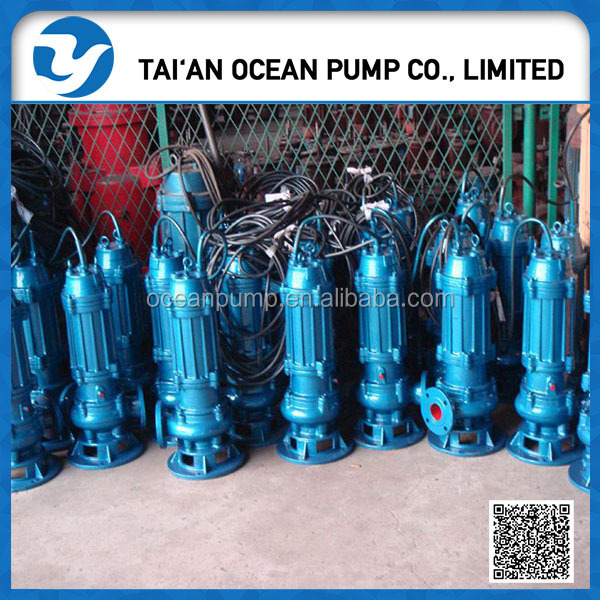 high quality electric centrifugal submersible sewage pump