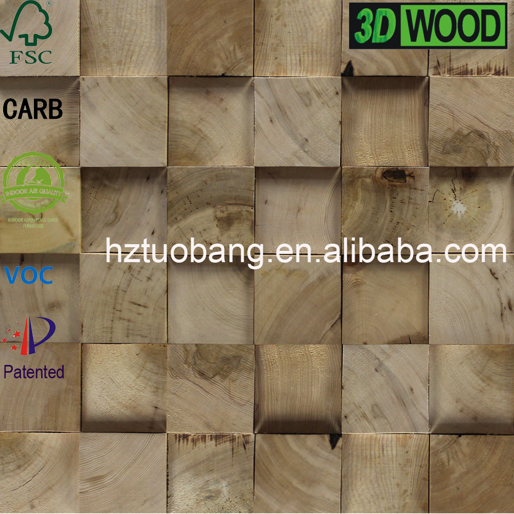 3D Effect vintage wood wall paneling