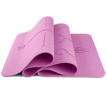 Wholesale gymnastic equipment tpe rubber yoga mat Pink