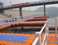 Plastic boat float pontoon floating dock platform