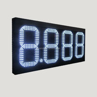 date and time led display/ led digital gas price sign/ double sided outdoor scrolling led gas sign