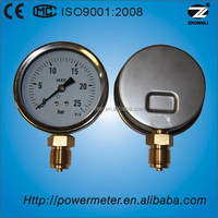 "CE certified4"" 100mm stainless steel case bottom connection pressure gauge kg and psi"