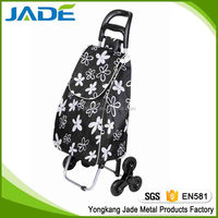 shopping trolley bag Europe style 3 wheels shopping trolley folding luggage cart collapsible 3 wheels shopping trolley