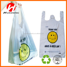 Virgin HDPE & LDPE Plastic Biodegradable T Shirt Shopping Bags/Vest Carrier Bags