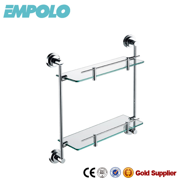 Kaiping Bathroom Accessories Glass Floating Shelf Hardware Double Support Rack 926 12