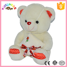 2016 plush teddy bear toy with diamond and soft plush animal toy