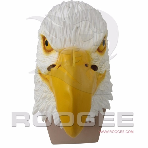 Crazy Full Head Animal Eagle Latex Mask For Accoutrement Party Cosplay
