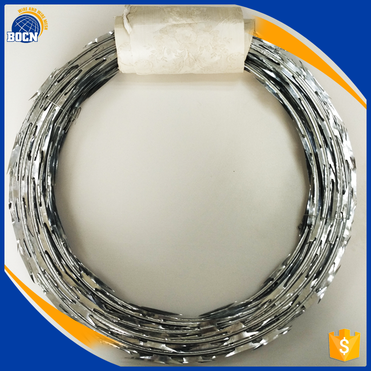 bocn factory sale galvanized razor barbed wire with competitive price