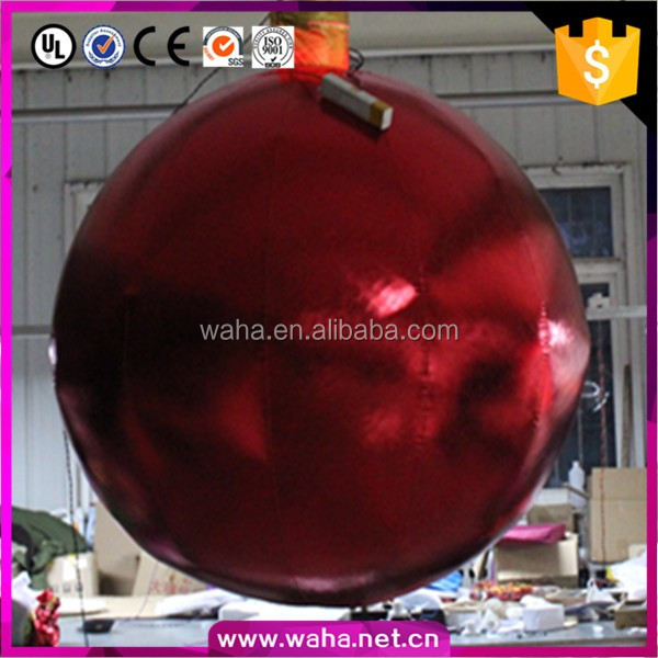 Super outdoor lighted inflatable christmas decorations ball with LED changable lights