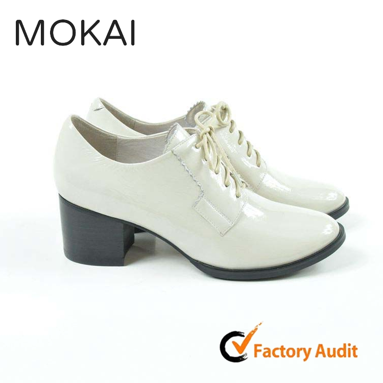 MK014P-2 OYSTER Italy design latest middle heel lady fashion point toe shoes for girls