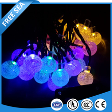 Solar energy lamp Led Bubble Ball Waterproof Outdoor Christmas lights string