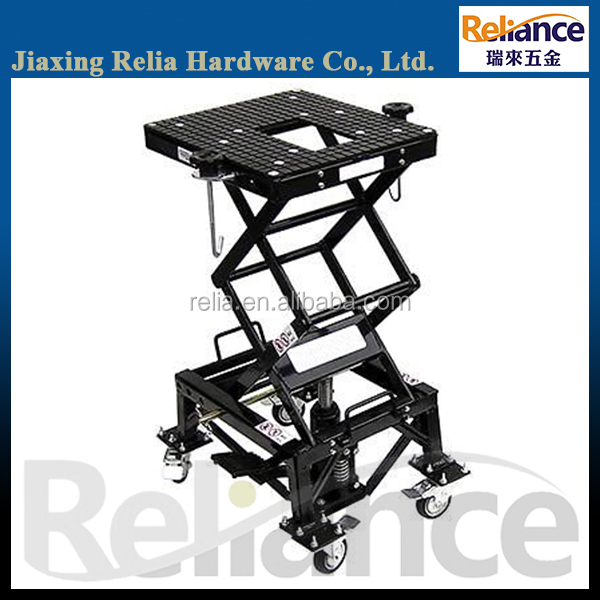 300 LBS Hydraulic Motorcycle Scissor Lift, Movable Platform Jack