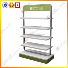 Colorful painting wood children shoe display stand