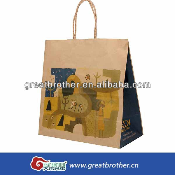 Perfect and fashionable gift paper bag and shopping paper bag