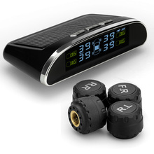 Solar-powered Wireless External Automotive Tire Pressure pressure Monitoring Alarms Car DIY tpms