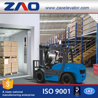 Machine Room-Less Traction Machine Freight Lift Machine/Cargo Elevator With Push Button Switch