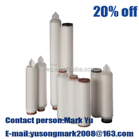 PP filter /0.1micron Pleated filter cartridge for water treatment plants