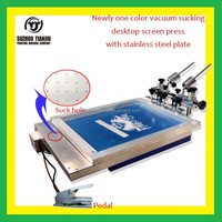 1 Color vacuum sucking desktop screen printing machine with micro registration(all-in-one printing machine)