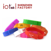Hot Sale Promotional Gift Silicone Bracelet Usb Flash Drive