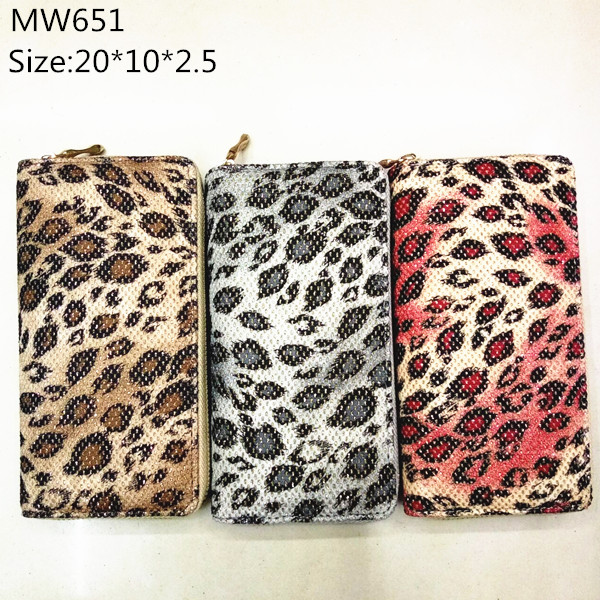 100% pu leather snake zip around card holder cellphone wallets for girls