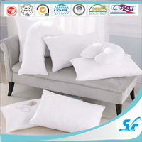 decorative V/U shape sofa bed microfiber down feather pillow