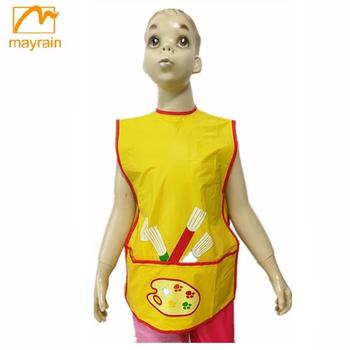 Kid PVC Polyester Drawing Apron,Kids School Apron,children smock