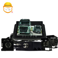 Truck ultrasonic reverse parking sensor with camera